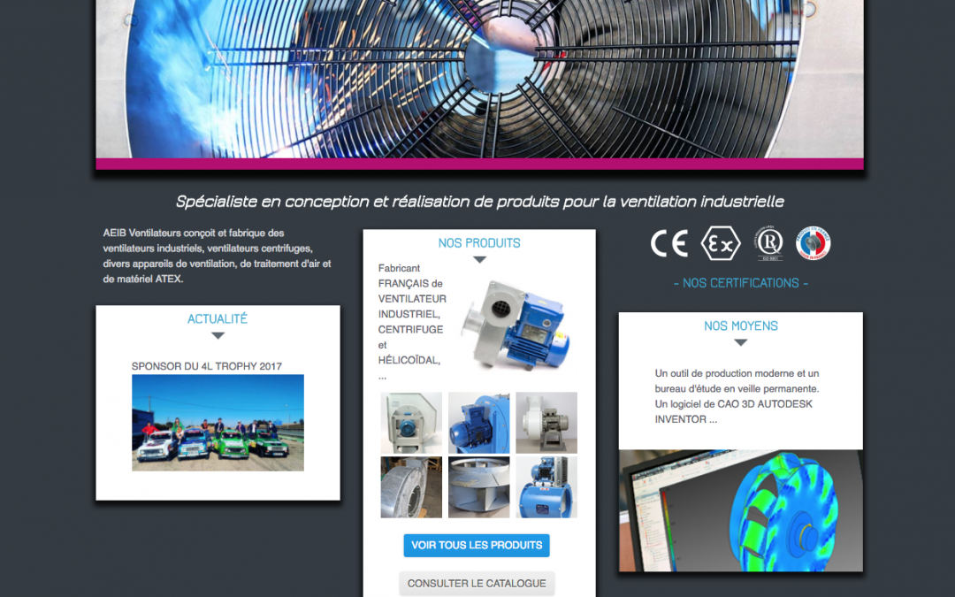 AEIB – Ventilateurs Industriels Bordeaux – Site Internet