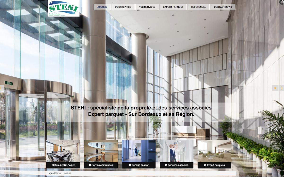 Conception et Rédaction du site internet de la société de nettoyage STENI