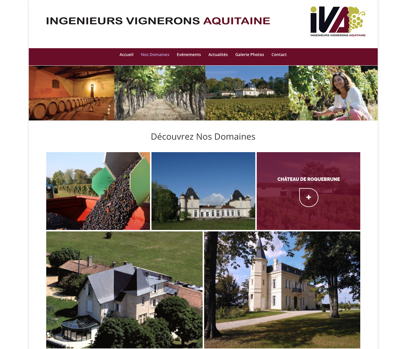 Ingenieurs Vignerons Aquitains - Site internet wordpress