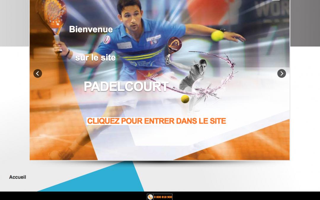 PADELCOURT – Sport dérivé du Tennis –  Site Vitrine