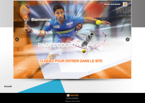 Padelcourt - conception site internet vitrine - bordeaux