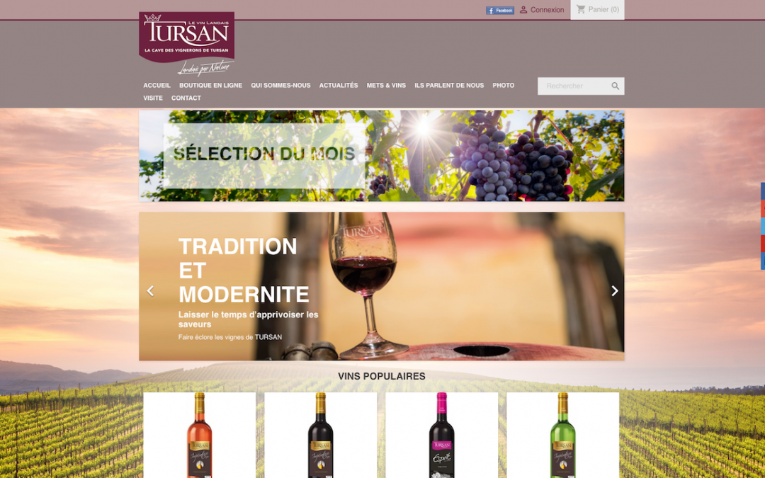 TURSAN – Site e-commerce