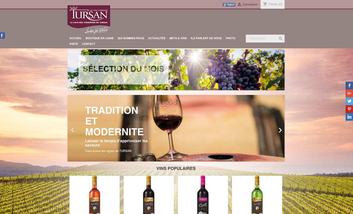 TURSAN - Cave coopérative - Création site e-commerce