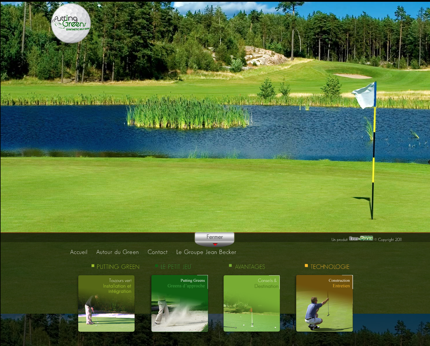 putting greens - bordeaux - réalisation du site internet